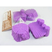 Iwako Purple Log Stools (Table & Chair) set Japanese Eraser