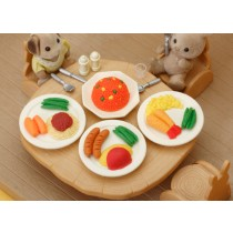 Iwako  Hot Lunch Plates Erasers