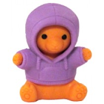 Iwako Purple Parka Teddy Bear Japanese Eraser
