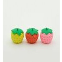 Iwako 3 Pencil Top Grip Strawberry Japanese Eraser