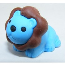 Iwako Safari Zoo Animals: Blue Dark Brown Lion King Japanese Eraser