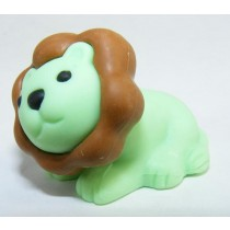 Iwako Safari Zoo Animals: Green Brown Lion King Japanese Eraser