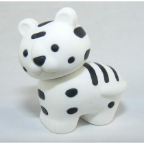 Iwako Safari Zoo Animals: White Snow Siberian Tiger Japanese Eraser