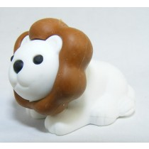 Iwako Safari Zoo Animals: White Dark Brown Lion King Japanese Eraser