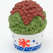 Iwako Uji kintoki brown bean green shave ice Flake Cup Japanese Eraser