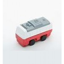 Iwako Red White Train Japanese Eraser