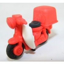 Iwako Vehicle: Red Delivery Scooter Motorbike Japanese Eraser