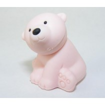Iwako Wild Animals Light Pink Arctic Polar Bear Japanese Eraser