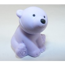 Iwako Wild Animals Purple Polar Bear Japanese Eraser