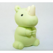 Iwako Wild Animals Light Green African Rhinoceros Japanese Eraser