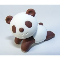 Iwako Zoo Animals: Brown Cool Panda Chill Out Japanese Eraser