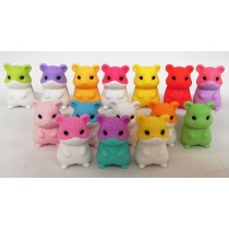 Iwako 15 colours Hamsters Family Japanese Erasers