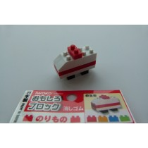Iwako Building Block Transport Ambulance Japanese Eraser