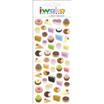 Iwako Gel Stickers -  Bakery Donut Biscuit Cookie  51 Stickers Per Pack