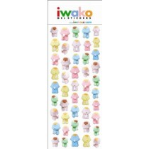Iwako Gel Stickers -  Feeding Baby  46 Stickers Per Pack
