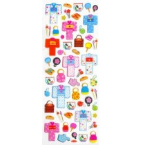 Iwako Gel Stickers - Japanese Kimono and accessories 57 Stickers Per Pack