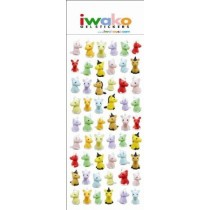 Iwako Gel Stickers -  Magical Unicorn  54 Stickers Per Pack