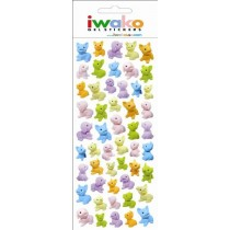 Iwako Gel Stickers -  Puppy Dog  51 Stickers Per Pack