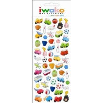Iwako Gel Stickers -  Sports and Toys  57 Stickers Per Pack