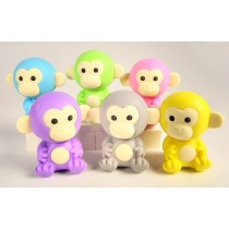 Iwako Jungle Animal 6 New Colour Monkey Japanese Erasers