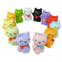 Iwako 12 colours Good Fortune Lucky Cat Japanese Erasers
