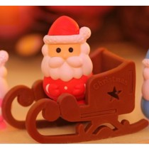 Iwako Red Santa Claus and Sleigh Japanese Erasers