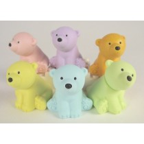 Iwako 6 Pastel Colour wild animal polar bear Japanese Erasers